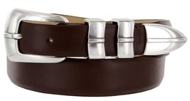 Marin Silver Genuine Italian Calfskin Leather Designer Dress Golf Belt for Wo... - $29.20