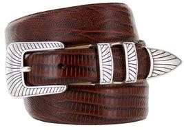 Nevada Men's Designer Genuine Italian Calfskin Leather Dress Belt (36, Lizard... - $29.20