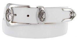 Monterey Italian Calfskin Leather Designer Dress Belts for Men(42, Smooth White) - $29.20