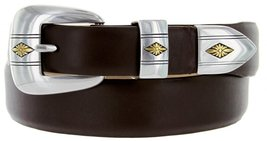 Golden Spring Diamond Italian Calfskin Leather Designer Dress Belts for Men(5... - $29.20