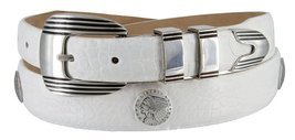 Buffalo Nickel and Indian Nickel Concho Tapered Down Belt for Men(Alligator W... - $39.55