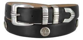 North Carolina Men's Genuine Leather Belt With Golf Concho In Smooth Black(SB... - $39.55