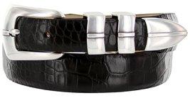 Marin Silver Genuine Italian Calfskin Leather Designer Dress Golf Belt for Wo... - $29.20