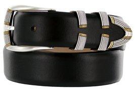 """Menlo Men's Designer Genuine Italian Calfskin Leather Dress Belt 1-1/8"""" ... - $29.20"""