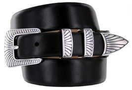 Nevada Men's Designer Genuine Italian Calfskin Leather Dress Belt (54, Smooth... - $29.20