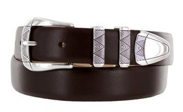Martin Italian Calfskin Leather Designer Dress Belts for Men (32, Smooth Brown) - $29.20