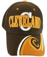 Cleveland Men's Adjustable C Wave Style Curved Brim Baseball Cap Hat Bro... - $9.95