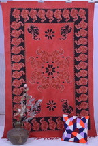 Indian Mandala Bedspread Elephant Wall Hanging Hippie Tapestry Bohemian ... - £11.23 GBP