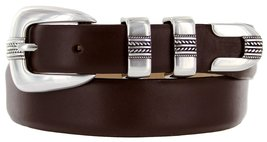 Norris Italian Calfskin Leather Designer Dress Golf Belt for Men (52, Smooth ... - $29.20