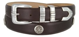 North Carolina Men's Genuine Leather Belt With Golf Concho In Smooth Brown(SB... - $39.55
