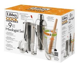 Glassware Libbey 9Piece Cool Cocktails Mixologist Set h1013 l1425 w663 w... - $52.59