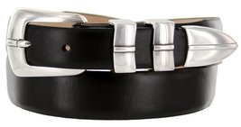 Marin Silver Italian Calfskin Leather Designer Dress Golf Belt for Men (54, S... - $29.20