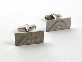 Vintage Sterling Silver Triangle Cufflinks By S In Shield 21617 - $24.99