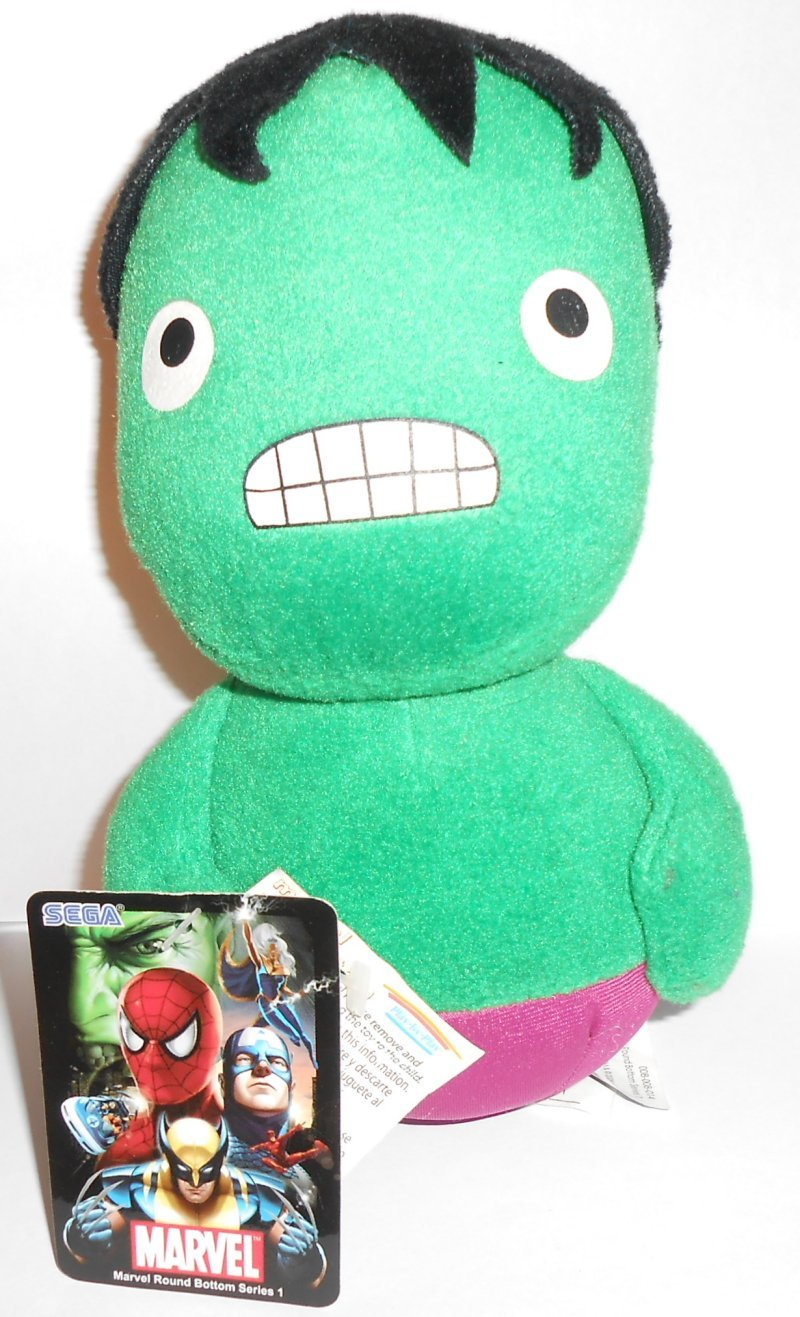 Marvel Round Bottom Series 1 Plush Doll Hulk 18cm