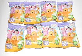 Morbidini Winnie Pooh Disney 3D Figure Mini Plush Lot 8 Packs - $15.00