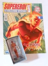 Classic Marvel Figurine Eaglemoss Human Torch + Italian Magazine - $13.00