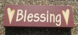 Primitive Wood Block  8W1566B - Blessings   - $3.95
