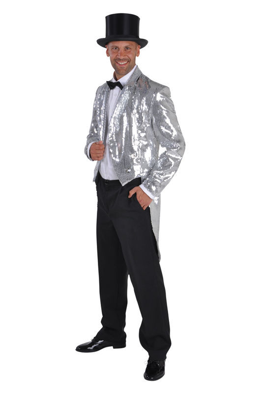 Sequinned Showman / Cabaret Tailcoat Jackets - GOLD