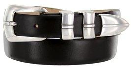 Marin Silver Italian Calfskin Leather Designer Dress Golf Belt for Men (50, S... - $29.20