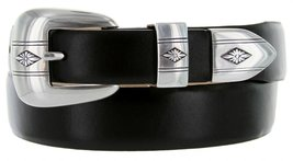 Silver Diamond Italian Calfskin Leather Designer Dress Belts for Men(42, Smoo... - $29.20