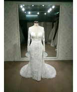 Darius Cordell | Long sleeve lace wedding dress... - $1,475.00