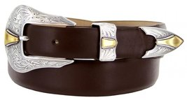 Colorado Italian Calfskin Leather Designer Dress Belts for Men(44, Smooth Brown) - $29.20