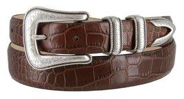 Cesar Silver Genuine Italian Calfskin Leather Designer Dress Belt for Men(All... - $29.69