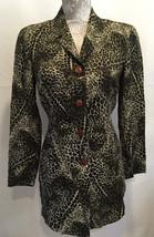 Dana Buchman Career Casual Animal Print Button Front Blouse Shirt Top Si... - $29.99