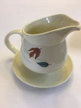 Franciscan AUTUMN Gravy Boat with attached Underplate Autumn Leaves - $14.85