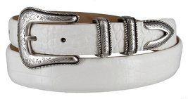 Cesar Silver Genuine Italian Calfskin Leather Designer Dress Belt for Women(A... - $29.69