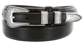 Oil Tanned Ranger Leather Belt With Sterling Silver Western Buckle - $32.62