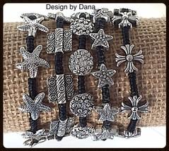Starfish-Silver Alloy-Woven Black Cotton Cord-C... - $20.00
