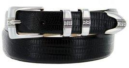 Silver Weave Italian Calfskin Leather Designer Dress Belts for Men(34, Lizard... - $29.20