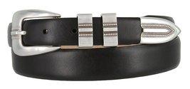 Vincent Silver Genuine Italian Calfskin Leather Designer Dress Belt for ... - $29.69
