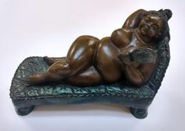 """Bruno Luna """"Reclining Nude"""" - Signed Bronze Scu... - $2,800.00"""