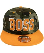 Boss Men's Adjustable Snapback Baseball Cap Hat with Script Under Bill C... - $8.95