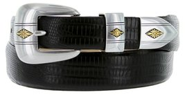 Golden Spring Diamond Italian Calfskin Leather Designer Dress Belts for Men(3... - $29.20