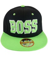 Boss Men's Adjustable Snapback Baseball Cap Hat with Script Under Bill B... - $8.95