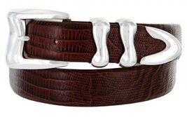 Aldo Italian Calfskin Leather Designer Dress Belts for Men(50, Lizard Brown) - $29.20