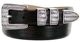 Monte Verde Italian Calfskin Leather Designer Dress Belts for Men(48, Lizard ... - $29.20