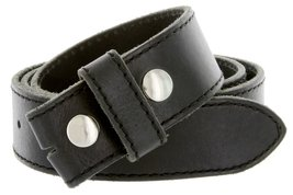 Italian Genuine Leather Belt Strap Black 38 - $18.76