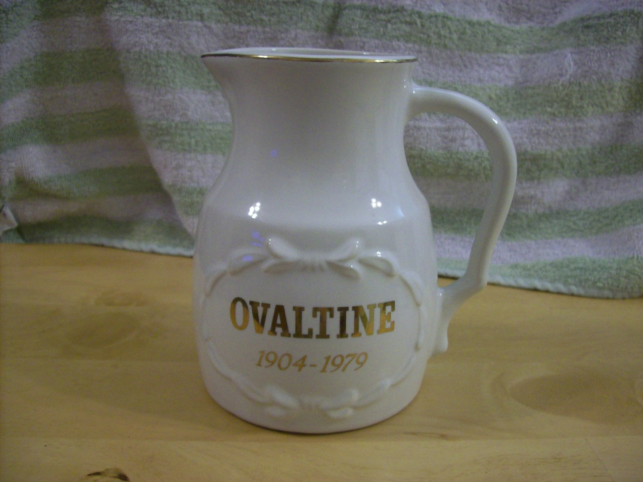 Vintage Ovaltine 1094-1979 75th anniversary pitcher