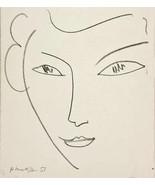 MATISSE LITHOGRAPH w/COA. beautiful unique art $ DLM 46, 1952 Litógrafo ... - $165.42