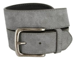 Casual Jean Suede Leather Belt for Men (Gray, 32) - $14.80