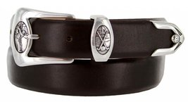 Monterey Italian Calfskin Leather Designer Dress Belts for Men(40, Smooth Brown) - $29.20