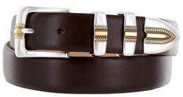 Carmelo Italian Calfskin Leather Designer Dress Golf Belt for Men (40, Smooth... - $29.20