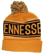 Tennessee Adult Size Warm Striped Cuffed Winter Knit Pom Beanie Hat Oran... - $11.95