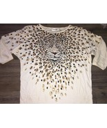 Magnolia Beige Top Ladies Size Small Beige Anim... - $11.30