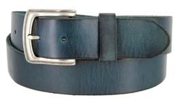 "Men's Genuine Full Grain Leather Casual Jeans Belt 1-1/2"" = 38mm (44, Blue) - $22.27"
