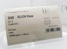 New Swarovski Elements 2028 Foiled Hotfix Flatbacks ss 8 Crystal Clear 1... - $47.57